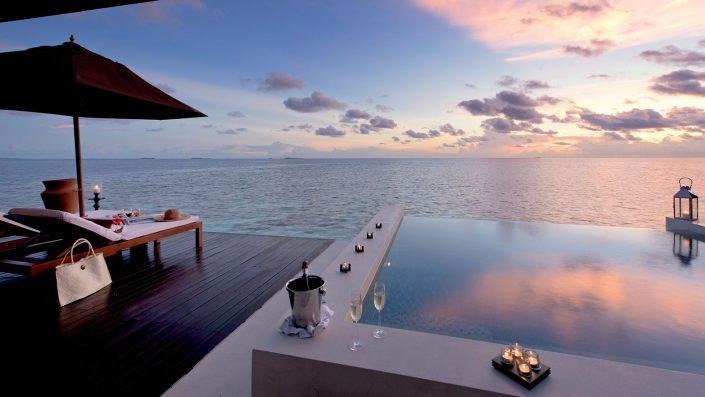 Maldives Luxury Villa sunset