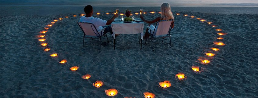 Valentine's Day Dinner at Lily Beach Resort Maldives