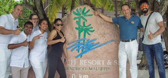 Celebrity visit at Lily Beach Resort Maldives