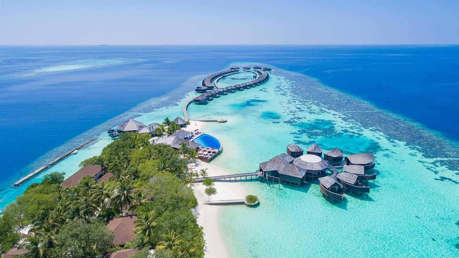 Lily Beach Resort Maldives aerial
