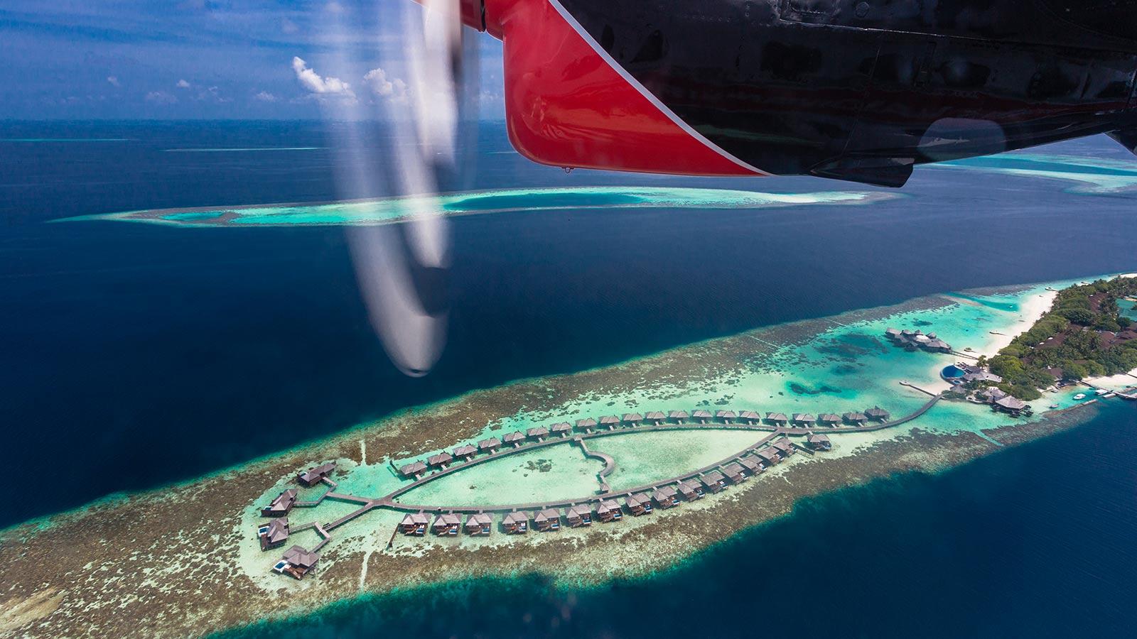 Arrival at Lily Beach Maldives