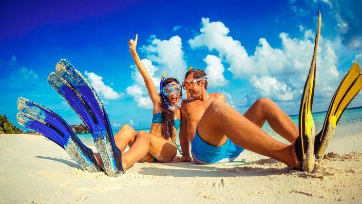 Snorkelling at Lily Beach Maldives