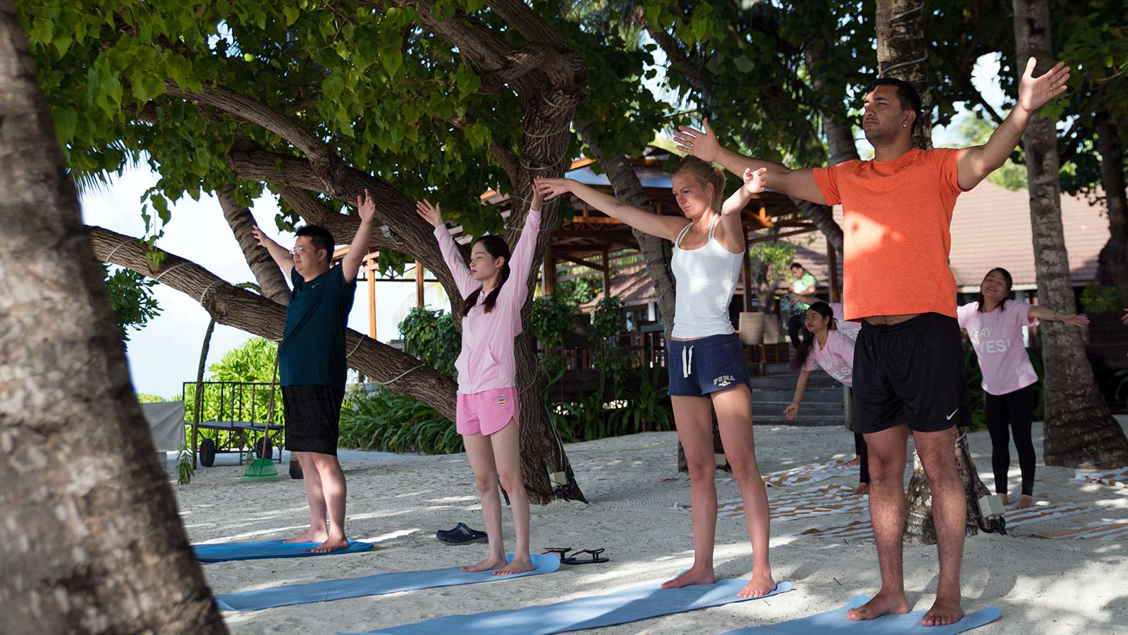 Yoga Class at Lily Beach Maldives
