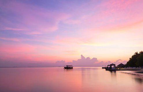 Lily Beach Maldives Sunset