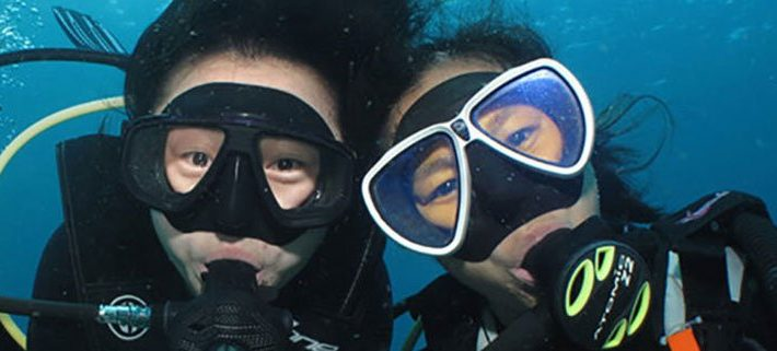 Scuba diving fun for kids at Lily Beach
