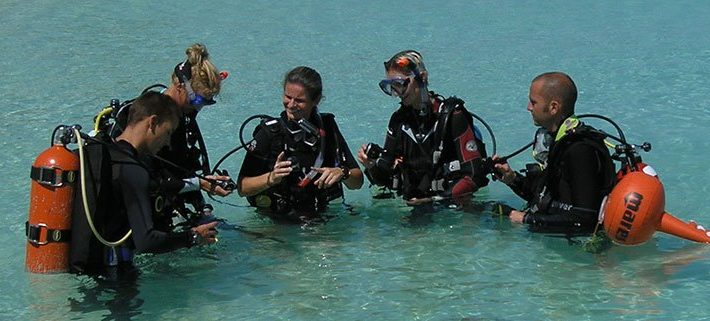 Try scuba diving at Lily Beach