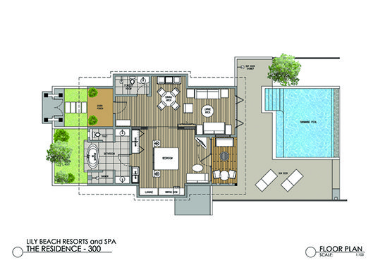 Beach Residence with Pool Floor Plan