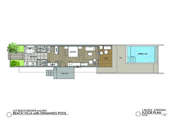 Beach Suite with Pool Floor Plan