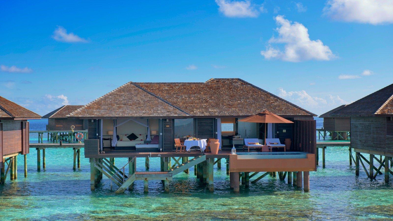 Tropical Island Beach Ambience Sound: Maldives Deluxe Water Villas